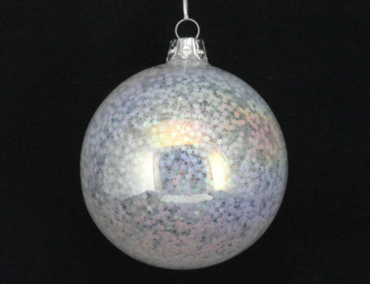 Iridescent Glitter Filled Ball 8cm