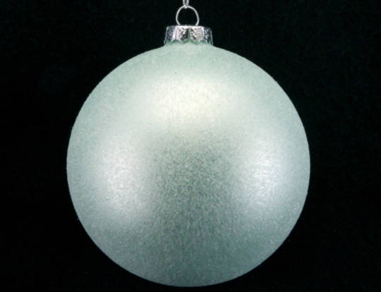 Glass Ball Pale Green Frosted 10cm