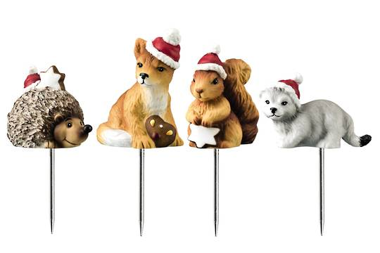 Hutsch. Porcelain Animal Picks Set4