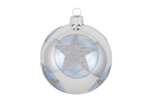 Glass Ball, Blue with Star