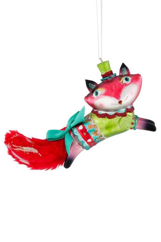 Glass Hanging Foxy Thing 15cm
