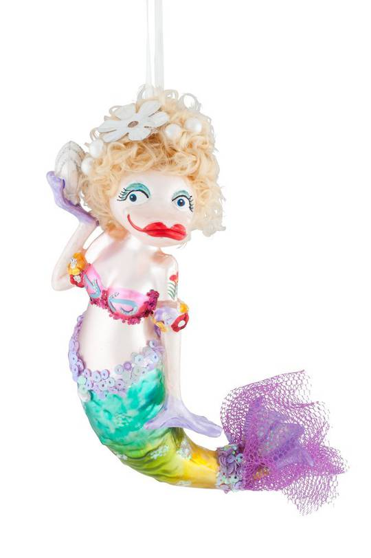 Glass Hanging Mermaid 15cm