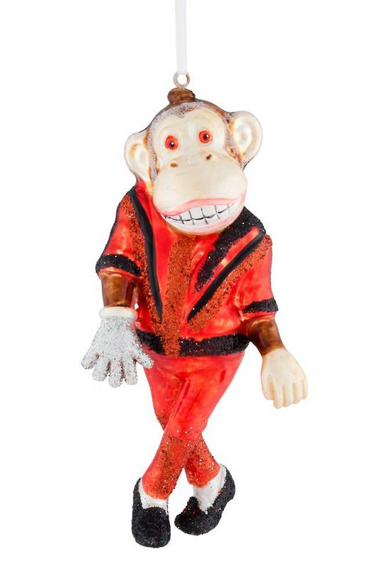 Glass Hanging Bad Monkey 12x6cm