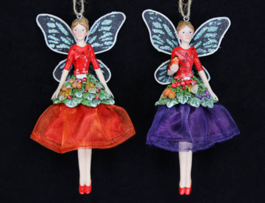 Hanging Resin & Fabric Forest Fairy
