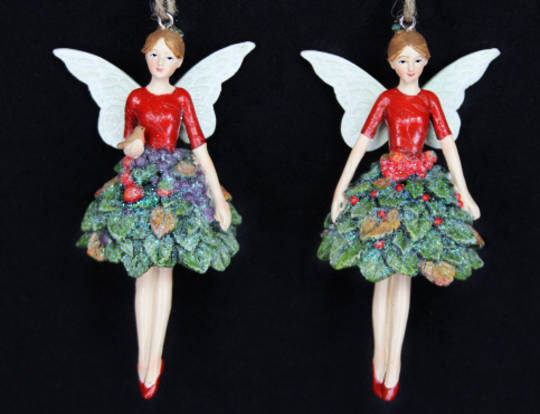 Hanging Resin Fairy with Fruit Dress