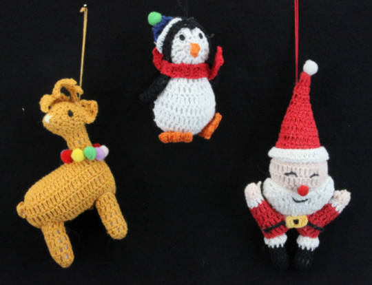 Knitted Hanging Christmas Shape 14cm