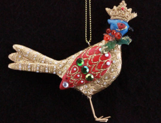Hanging Resin Pheasant with Crown