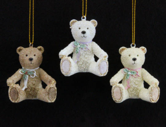 Hanging Resin Victorian Teddy