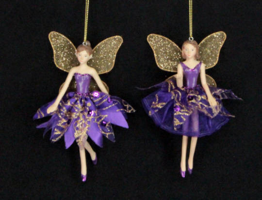 Hanging Resin Fairy Purple Glitter Fabric Sold Out