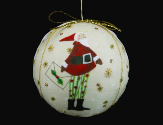Letter to Santa Fabric Ball 7cm