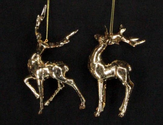 Hanging Metallic Gold 3D Stag