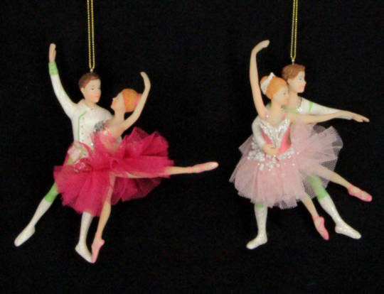 Hanging Resin & Fabric Ballet Dancers Boy&Girl