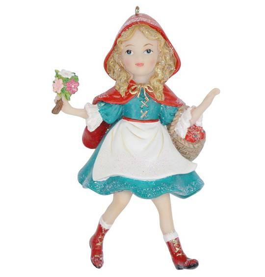 Hanging Resin Little Red Riding Hood 11cm
