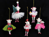 Hanging Resin & Fabric White Mouse Ballerina SOLD OUT