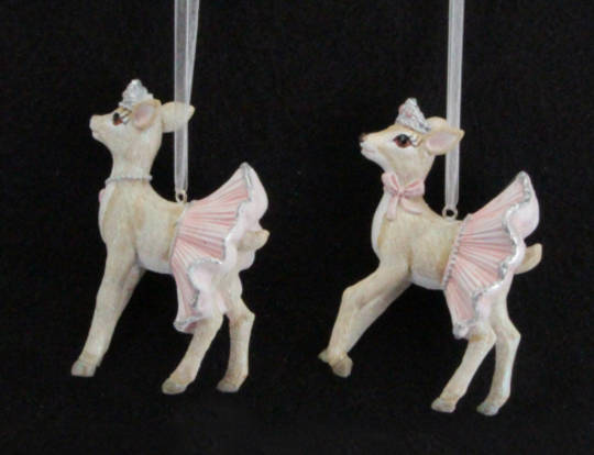 Hanging Resin Ballerina Deer