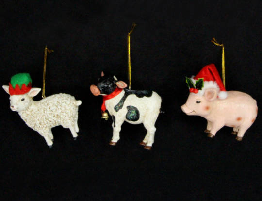 Hanging Resin Sheep/ Cow/ Pig