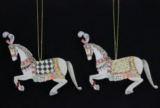 Hanging Wooden Circus Horse 10cm