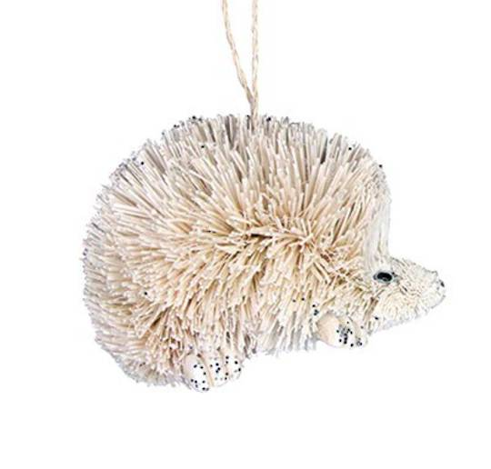 Hanging White Bristle Hedgehog