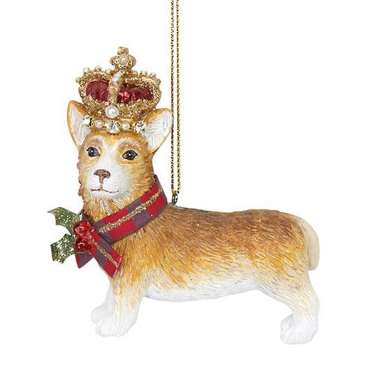 Resin Corgi with Crown