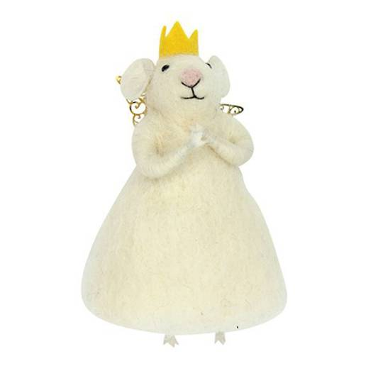 Eco Wool White Princess Mouse
