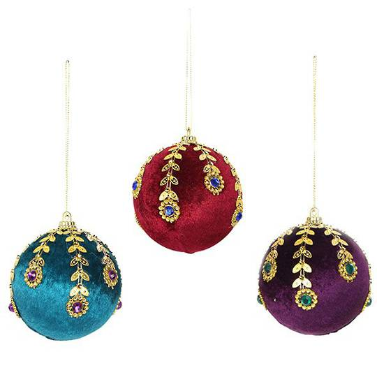 Velvet Ball with Jewelled Pattern