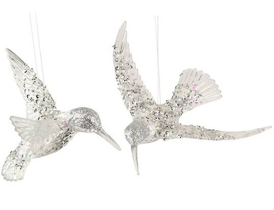 Acrylic Clear and Silver HummingBird