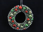 Hanging Bristle and Ball Wreath Lge