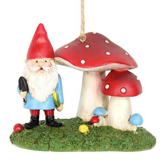 Resin Gnome with Toadstools
