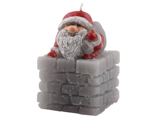 Santa in Chimney Candle
