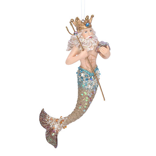 Resin Neptune Merman 16cm