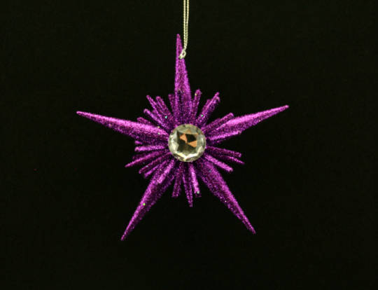Resin and Glitter Purple Star 12cm