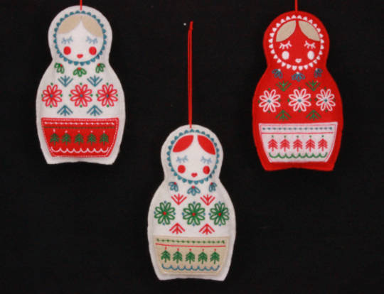 Hanging Felt Russian Dolls