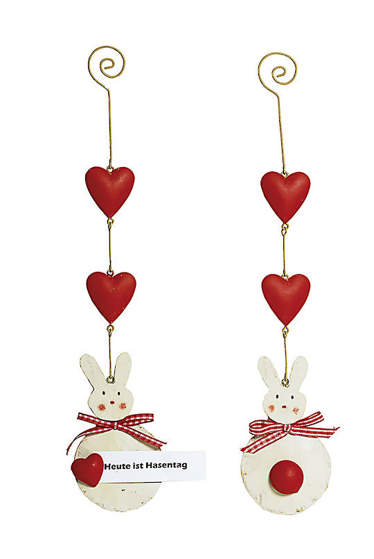 Tin Red Bunny Mobile 30cm