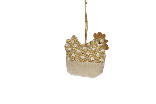 Fabric Beige Dotty Chicken