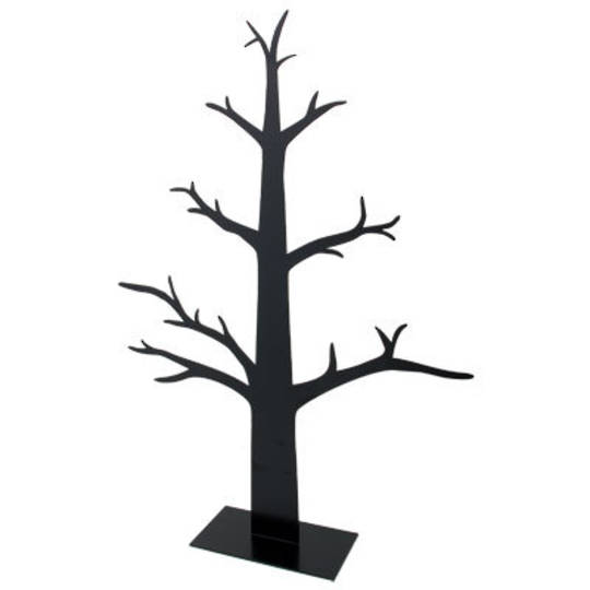 Metal Tree For Decorations Black