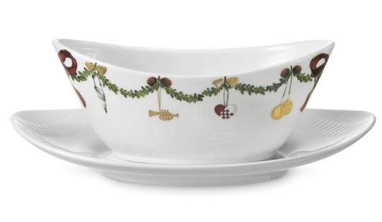 StarFluted Christmas Sauce Boat