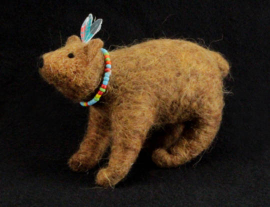 Eco Wool Red Indian Bear
