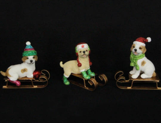 Resin Puppies on Sledge