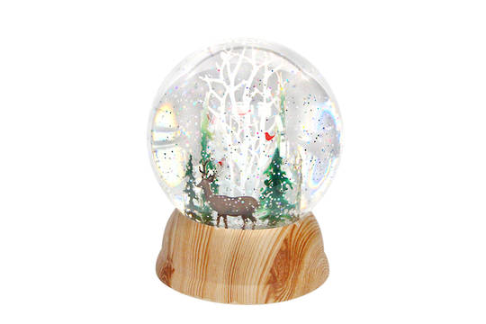 LED SnowGlobe Nordic Scene 10cm SOLD OUT