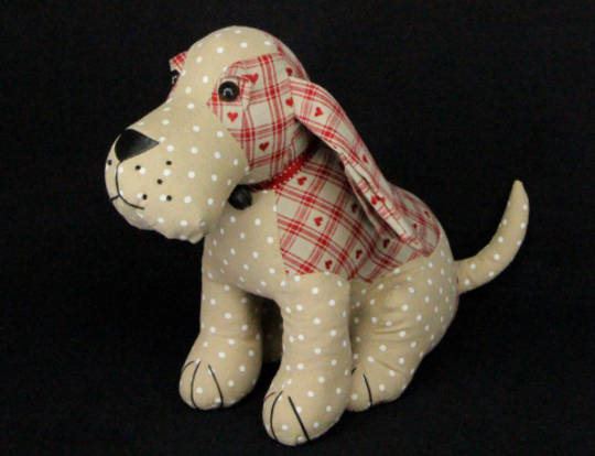 Fabric Door Stop Sitting Dog SOLD OUT