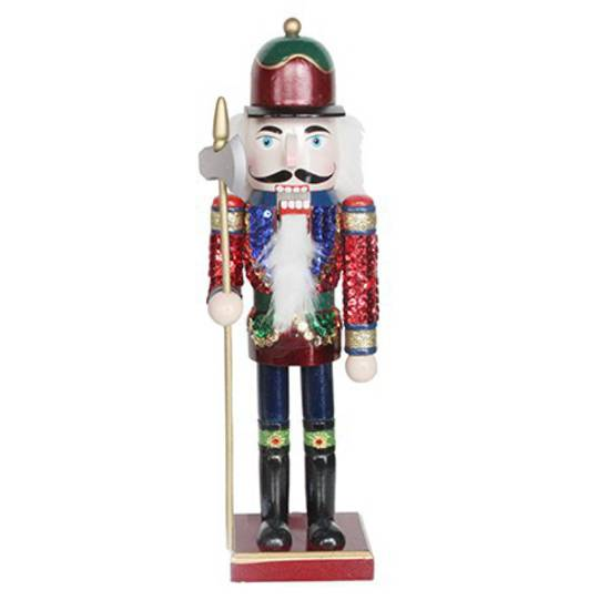 Painted Wood Nutcracker 36cm SOLD OUT