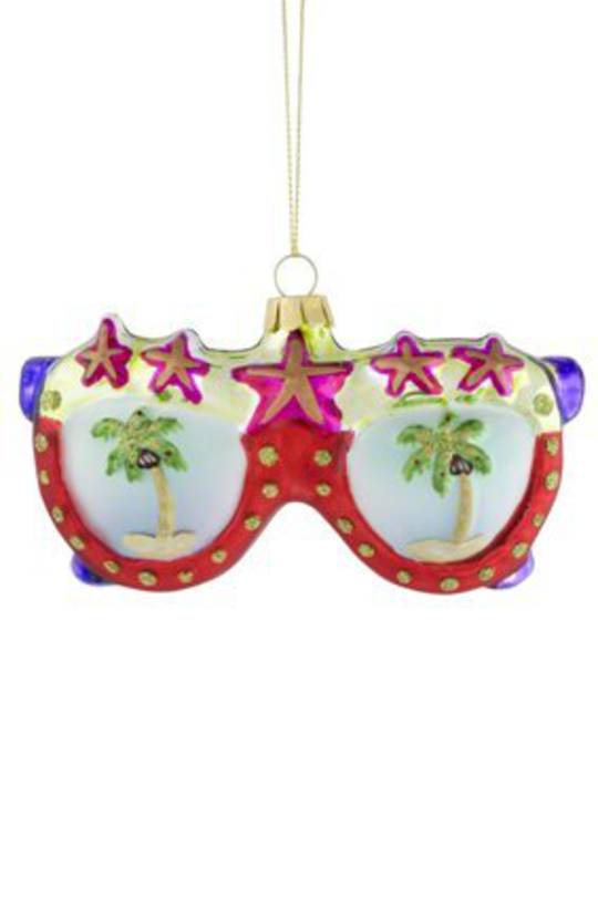 Glass Hanging SunGlasses 12x6cm