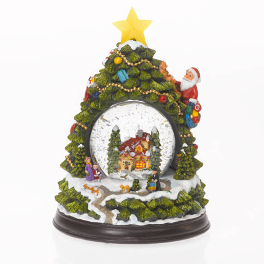 Musical LED SnowGlobe, Village inside Xmas Tree