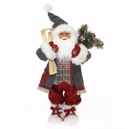 Santa Red Coat with Plaid Vest