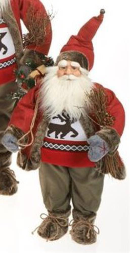 Santa 65cm Red Coat Reindeer Jumper LED Lights 3x AA Batt