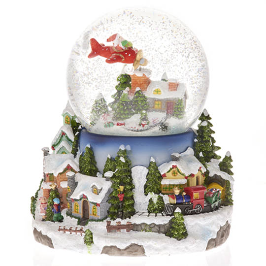 Musical LED SnowGlobe, Plane and Train