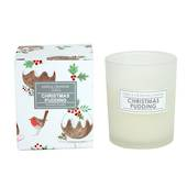 Plum Pudding Mini Scented Candle in Frosted Glass Pot