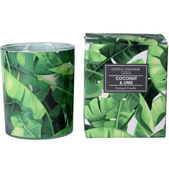 Banana Leaves Design Scented Candle Jar