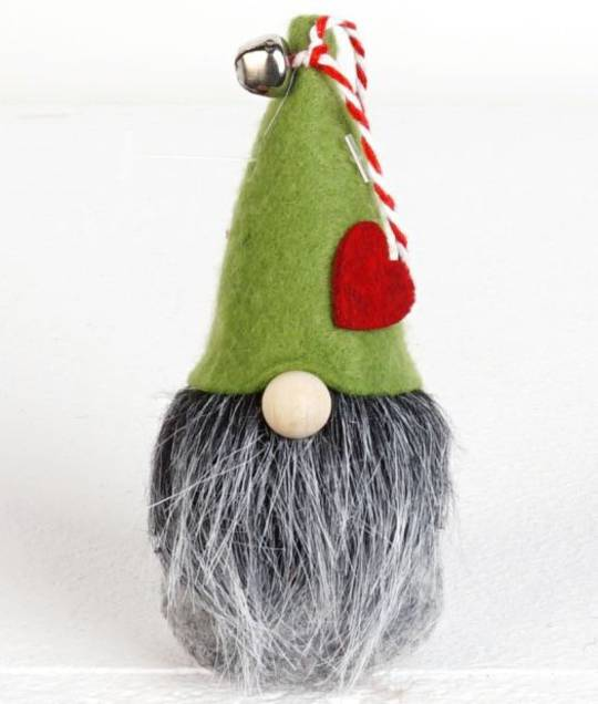 Hanging Alpine Green Hat Gnome