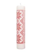 Advent Calendar Candle White Knit